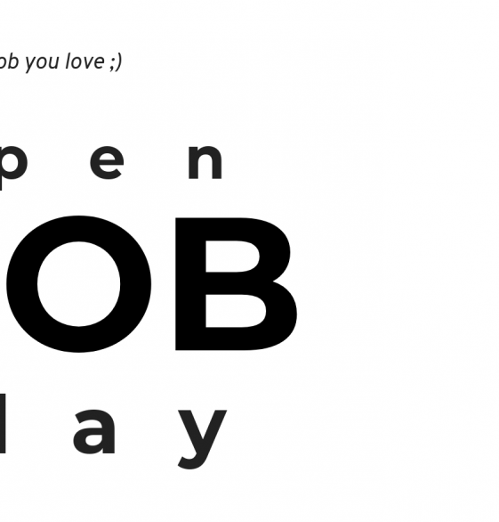 New open application day soon!